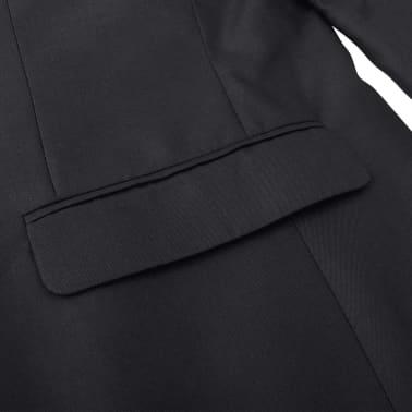 Business Anzug für Herren 3-teilig Schwarz Gr. 50[9/10]