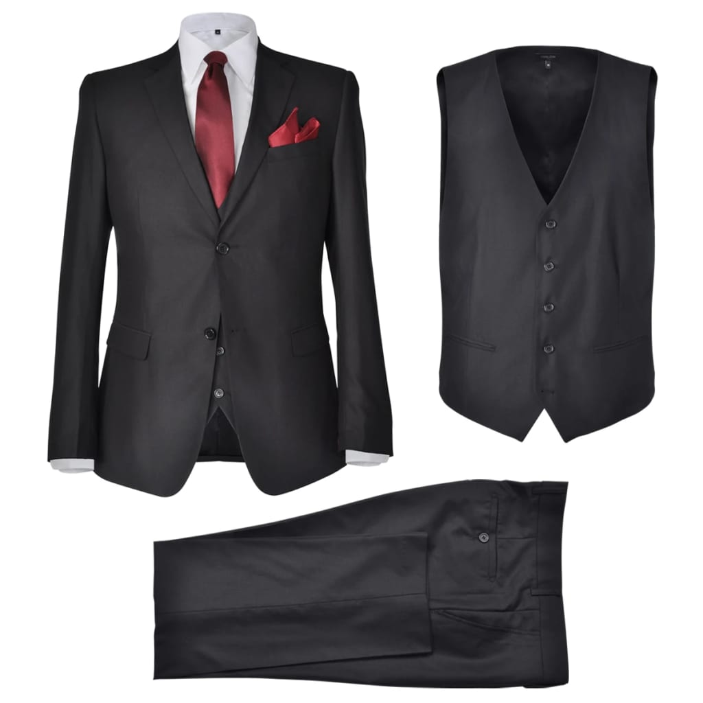 Třídílný pánský business oblek, vel. 54, černý