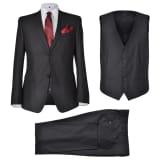 Three Piece Men's Business Suit Size 54 Black