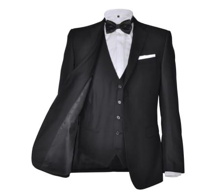 Business Anzug für Herren 3-teilig Schwarz Gr. 54[3/10]