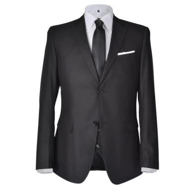 Business Anzug für Herren 3-teilig Schwarz Gr. 54[2/10]