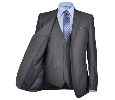 Tredelad Business Kostym Herrar strl. 46 Antracitgrå[3/10]