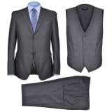 Three Piece Men's Business Suit Size 48 Anthracite Grey