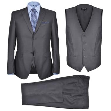 Business Anzug für Herren 3-teilig Grau Gr. 54[1/10]