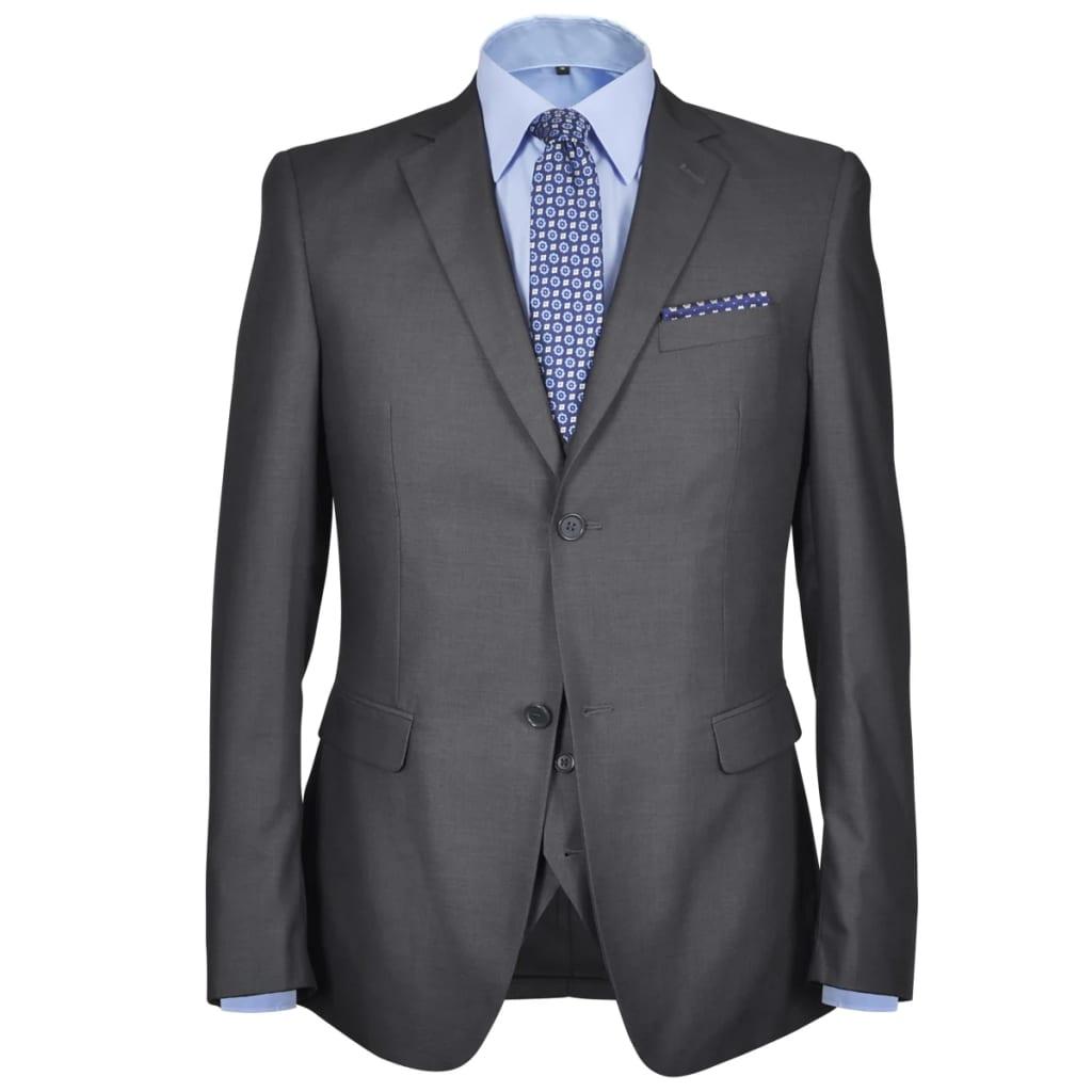 Třídílný pánský business oblek, vel. 54, antracitově šedý