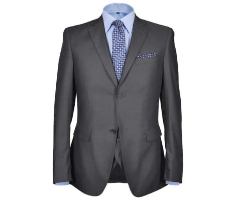 Business Anzug für Herren 3-teilig Grau Gr. 54[2/10]