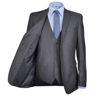 Business Anzug für Herren 3-teilig Grau Gr. 54[3/10]