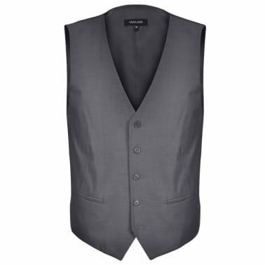 Business Anzug für Herren 3-teilig Grau Gr. 54[4/10]