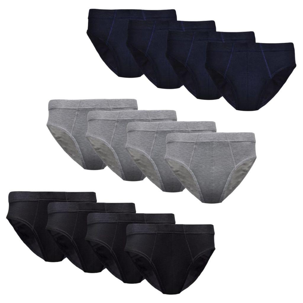 12 ks Pánské spodní prádlo slipy, mix barev, velikost M