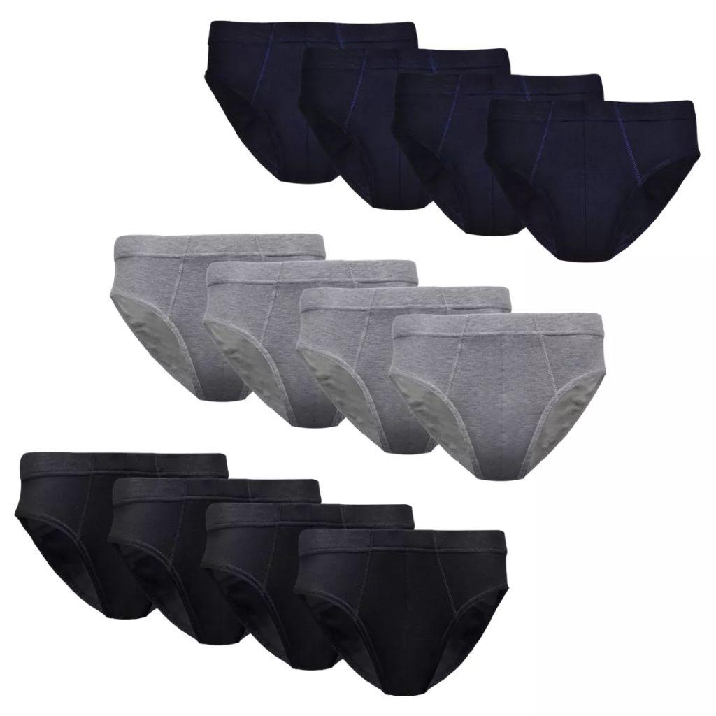 12 ks Pánské spodní prádlo slipy, mix barev, velikost XXL
