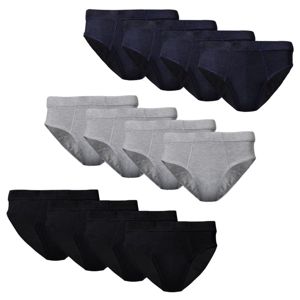 12 ks Pánské spodní prádlo slipy bavlněné, mix barev, velikost XXL