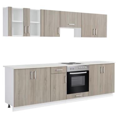 acheter vidaxl armoire de cuisine et four encastr et plaque chauffante pas cher. Black Bedroom Furniture Sets. Home Design Ideas