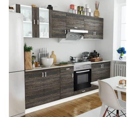acheter cuisine compl te avec four int gr et plaque de cuisson aspect wenge pas cher. Black Bedroom Furniture Sets. Home Design Ideas