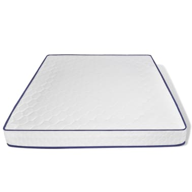 lit en similicuir 180 200 cm blanc led avec matelas m moire. Black Bedroom Furniture Sets. Home Design Ideas