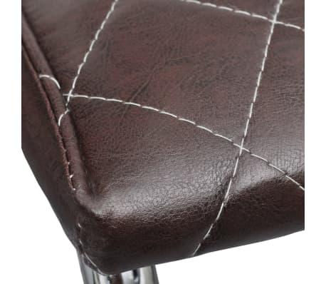 Vidaxl 6 pz sedie per sala da pranzo in pelle artificiale for Sedie per sala da pranzo in pelle