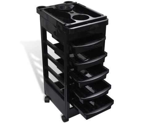 vidaXL Hair Salon Plastic Trolley with Wheels
