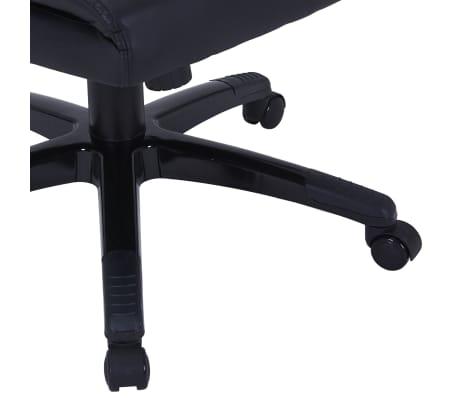 Περιστρεφόμενη καρέκλα Ρυθμιζόμενη Μαύρο συνθετικό δέρμα[5/6]
