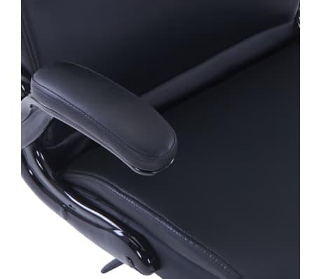 Περιστρεφόμενη καρέκλα Ρυθμιζόμενη Μαύρο συνθετικό δέρμα[6/6]