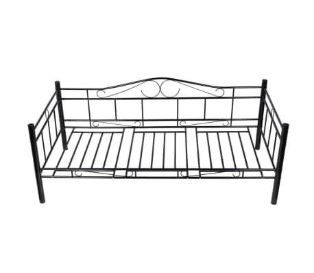 vidaxl metallbett einzelbett tagesbett metall bettgestell sofa 90x200 matratze ebay. Black Bedroom Furniture Sets. Home Design Ideas