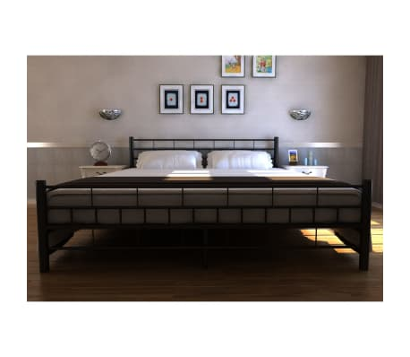 bett doppelbett mit lattenrost 140x200 cm schwarz matratze g nstig kaufen. Black Bedroom Furniture Sets. Home Design Ideas