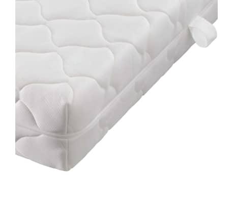 acheter vidaxl lit similicuir noir blanc avec pied 180x200 cm matelas inclus pas cher. Black Bedroom Furniture Sets. Home Design Ideas