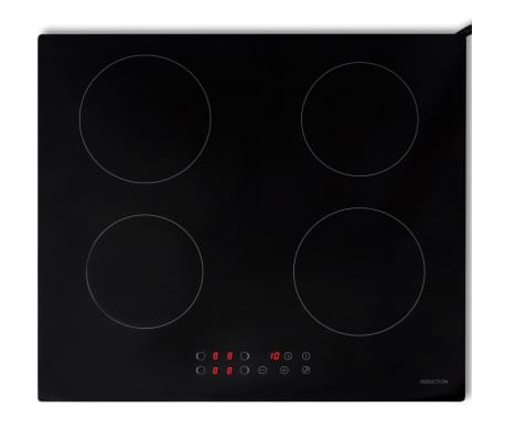 vidaxl plaque de cuisson induction verre eurokera 4 br leurs. Black Bedroom Furniture Sets. Home Design Ideas
