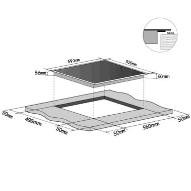 vidaXL Induksjonstopp med 4 brennere EUROKERA-glass[4/4]
