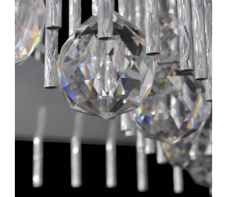 acheter plafonnier carr cristal avec bande aluminium pas cher. Black Bedroom Furniture Sets. Home Design Ideas