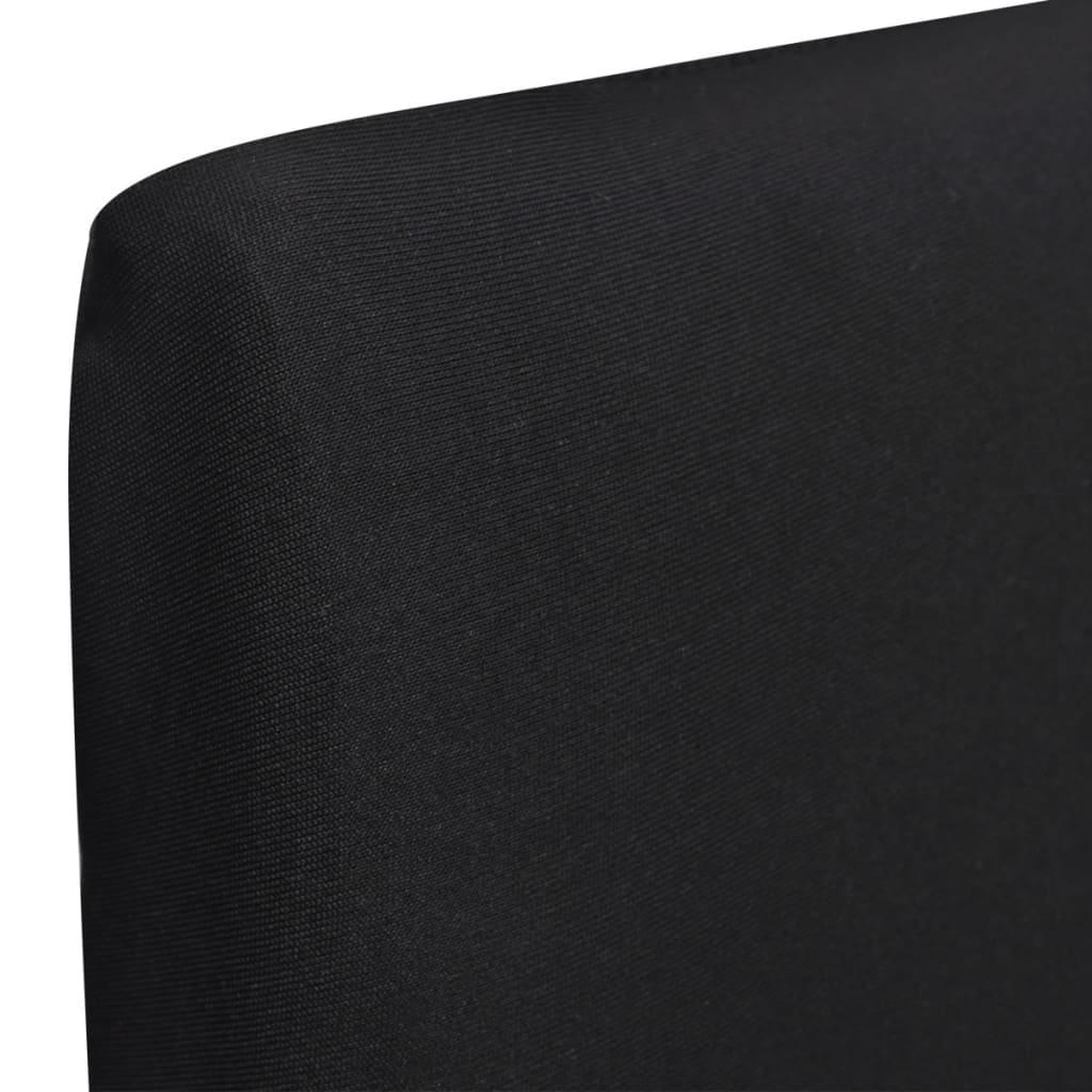 vidaXL 6 ks Elastické potahy na židle černé