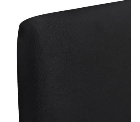 Crne rastezljive navlake za stolice, 6 kom[2/4]