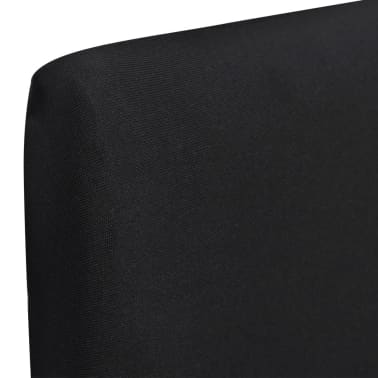 6 pcs Black Straight Stretchable Chair Cover[2/4]