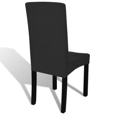 Crne rastezljive navlake za stolice, 6 kom[4/4]