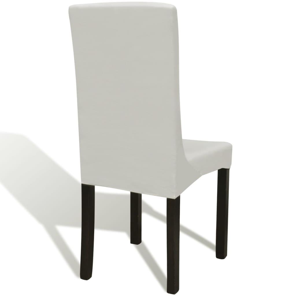 Elastyczne pokrowce na krzesła, 6 szt., kremowe