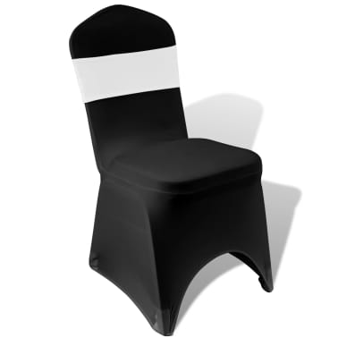 25 pcs White Stretchable Decorative Chair Band with Diamond Buckle[4/5]