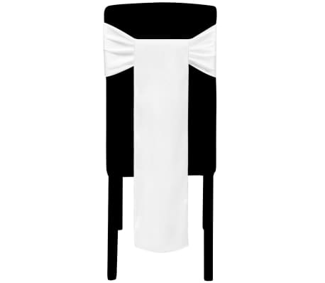 acheter 25 n uds de chaise d coratifs en satin blancs pas cher. Black Bedroom Furniture Sets. Home Design Ideas
