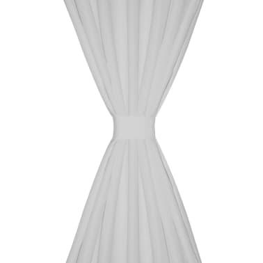 Baltos Užuolaidos su Kilpomis 140 x 175 cm, 2 vnt., Mikro Satinas[3/4]