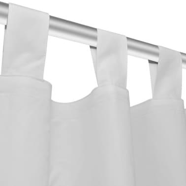 Baltos Užuolaidos su Kilpomis 140 x 175 cm, 2 vnt., Mikro Satinas[4/4]