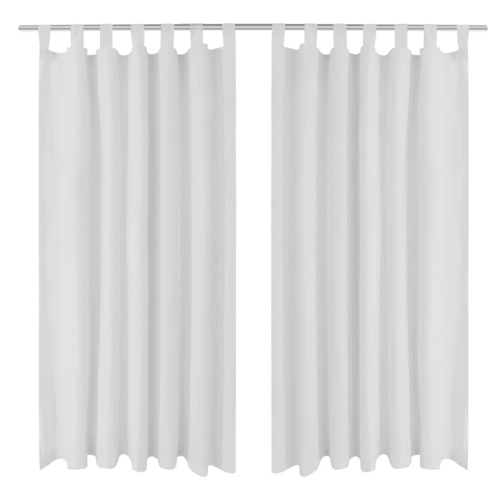 99130360 Vorhänge Gardienen aus Satin 2-teilig 140 x 225 cm Weiß