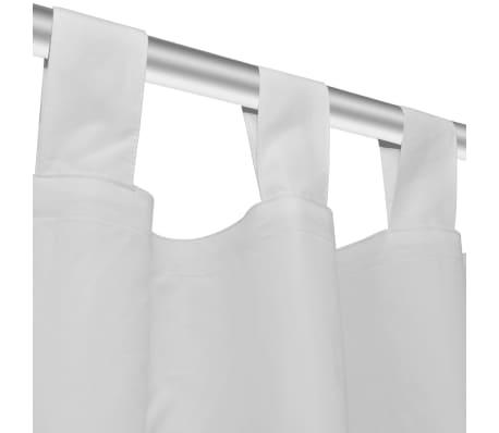 Draperii micro-satin cu bride, 2 buc, 140 x 225 cm, alb[4/4]