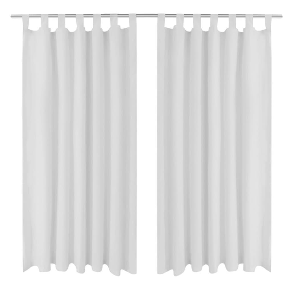 99130361 Vorhänge Gardienen aus Satin 2-teilig 140 x 245 cm Weiß