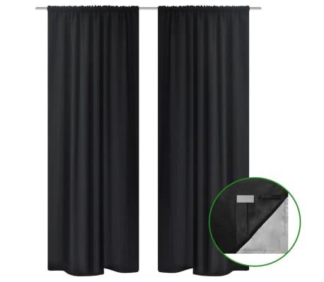 vidaXL Gordijnen verduisterend 2 st dubbellaags 140x245 cm zwart[1/5]