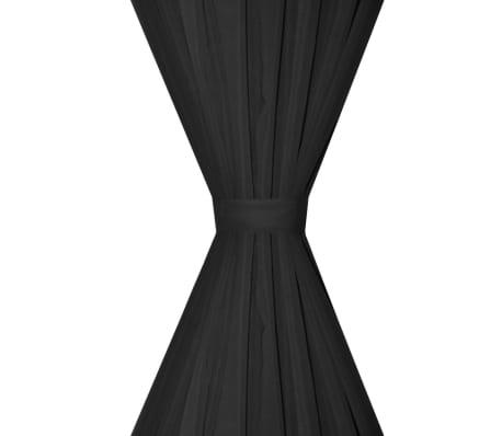 vidaXL mørklægningsgardiner 2 stk. dobbelt lag 140 x 245 cm sort[4/5]