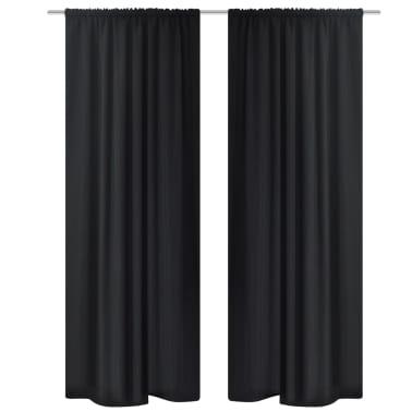 vidaXL Gordijnen verduisterend 2 st dubbellaags 140x245 cm zwart[2/5]