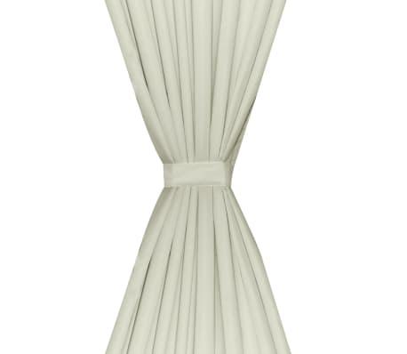 vidaXL Rideau occultant 2 pcs à double couche 140x245 cm Couleur crème[4/5]