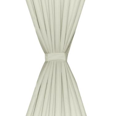 Verdunkelungs-Vorhänge energiesparend doppellagig 140x245cm Crème[4/5]