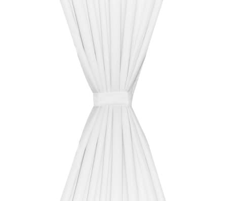 vidaXL Naktinės užuolaidos, 2vnt., dvisluoksnės, 140x245cm, baltos[4/5]