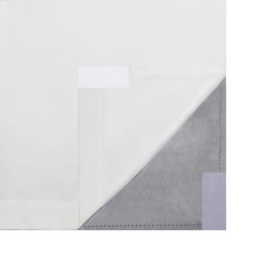 vidaXL Naktinės užuolaidos, 2vnt., dvisluoksnės, 140x245cm, baltos[5/5]