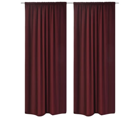 vidaXL Blackout Curtains 2 pcs Double Layer 140 x 245 cm Bordeaux