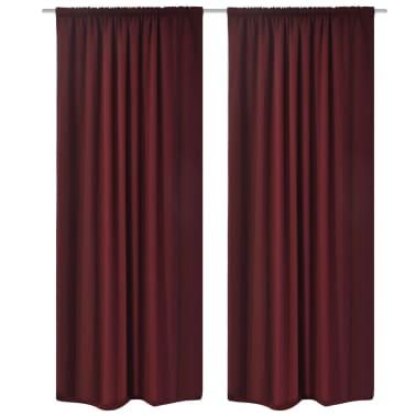 acheter 2 pcs rideau blackout doubl occultant bordeaux. Black Bedroom Furniture Sets. Home Design Ideas