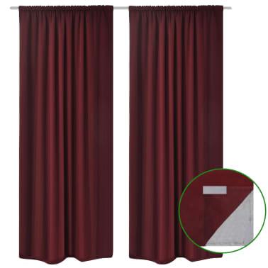 "vidaXL Blackout Curtains 2pcs Double Layer 55""x96"" Bordeaux Energy-saving[2/5]"